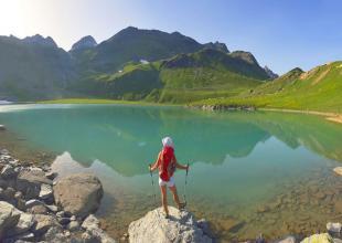 Lac-Blanc dans les Alpes