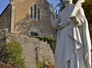 Le pont et la statue de saint Sylvain