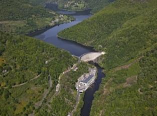 Barrage et usine EDF de Couesques