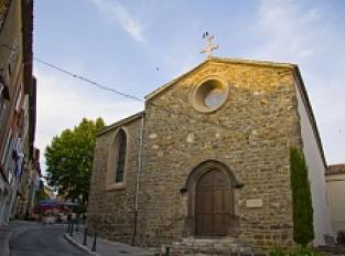 Place de l'Abbé Toti - Maison du Colporteur Esmieu - Ancienne Mairie - Eglise St Sauveur St Etienne