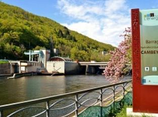 Le barrage et la Centrale hydroélectrique EDF de Cambeyrac