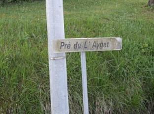 """Toponymie du Lieu-dit """"Pré de l'Aygat"""""""