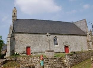 Grand-Champ, fontaine et chapelle Sainte Brigitte à Loperhet