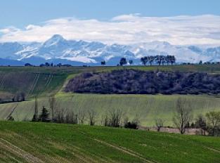 Point de vue sur les Pyrénées