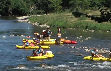 camping-mijeannes-ariege-canoe-isere