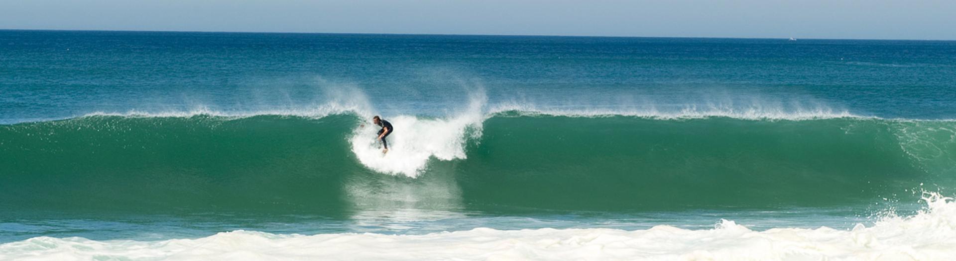 slider surfer dans les Landes