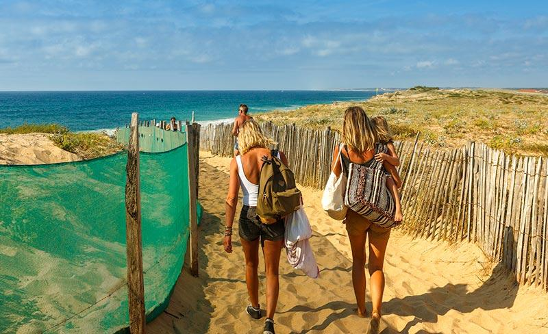 camping-le-boudigau-labenne-acces-plage