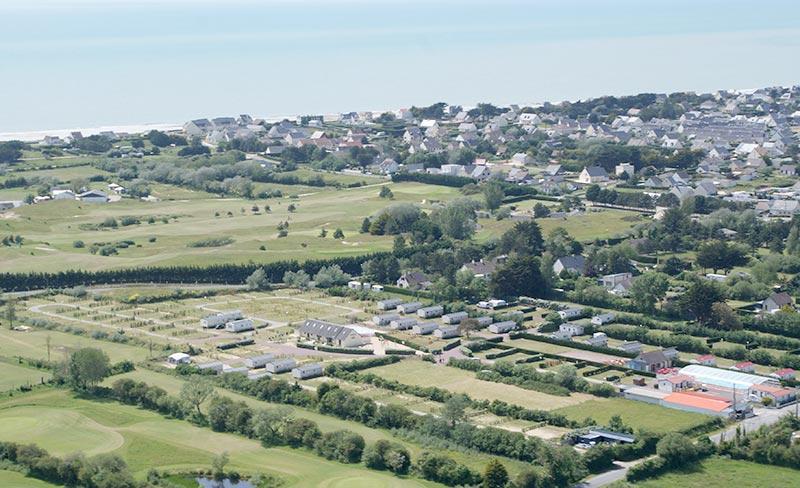camping-golf-barneville-vue-aerienne